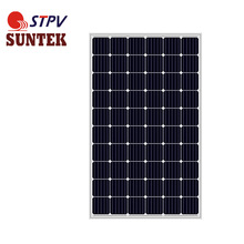 5bb high efficiency SUNTEK 265w solar panel monocrystalline for home