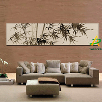 Digital printed traditional Chinese Bamboo painting Oil painting Bamboo canvas prints framed oil painting for living room