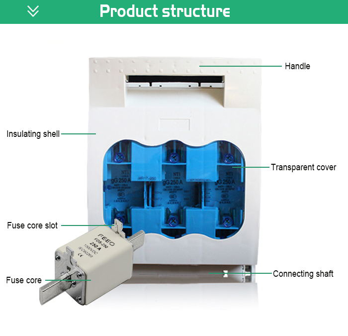 FHB Waterproof Fuse switch disconnector 160A 250A 400A 630A Fuse type isolator switch