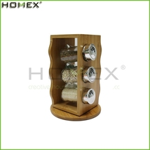 Wholesale 2017 Creative Kitchen Accessories Decorative Bamboo Kitchen Spice Rack For 6Jars/Homex_Factory