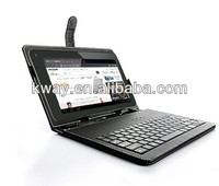 "USB Keyboard & Leather Cover Case Bag for 7"" /8""/9.7/10.1 Tablet PC keyboard case"