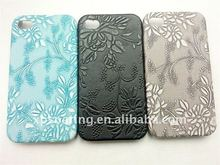 flower skin case back cover for iphone 4g 4s