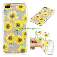 Fashion TPU Sunflower printing Wholesale Cell Phone Case for iphone 7
