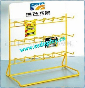 retail store battery display rack for small pendants/flooring metal shop rack/display holder for promotion or supermarket