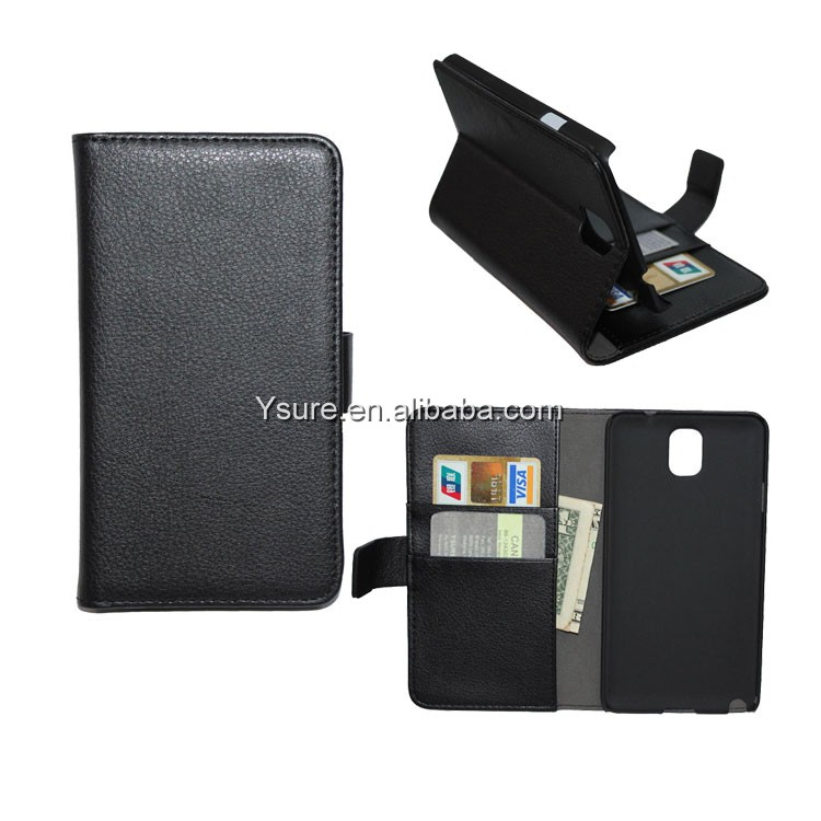 For Samsung Galaxy Note 3 N9000 N9005 Leather Wallet Case with Stand