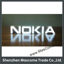 acrylic stainless steel metal letter with LED lighting