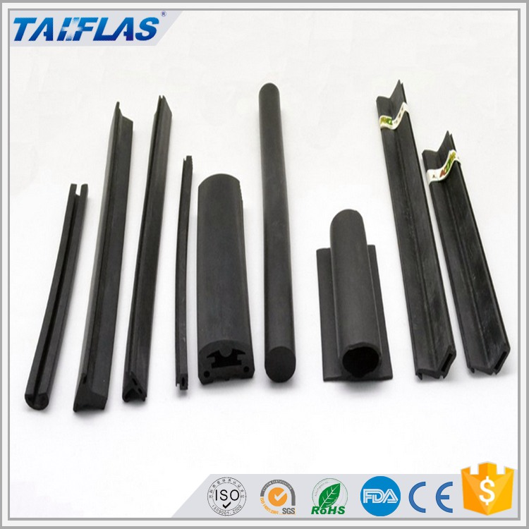 heat and cold resistance Black door rubber hinge strip