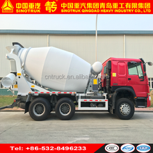 SINOTRUK HOWO 6x4 9 m3 self-loading concrete mixer truck with pump