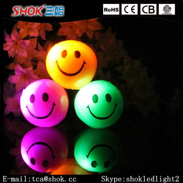 Led glow emoji finger ring hot selling party supplies Christmas gift