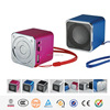 Hairong high quality metal audio speaker with lanyard and FM radio