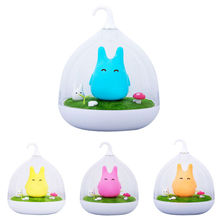Totoro Cute Portable Touch Sensor USB Rechargeable LED Night Light Lamp Baby Bedroom Dimmer Children Bedside Lamp