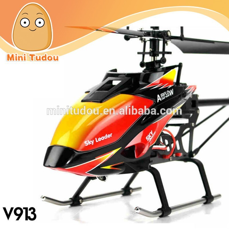 WL V913 rc toy jet airplane with LCD Screen 2.4G 4CH aeromodelling Single-Propeller LCD RC Helicopter For Sale
