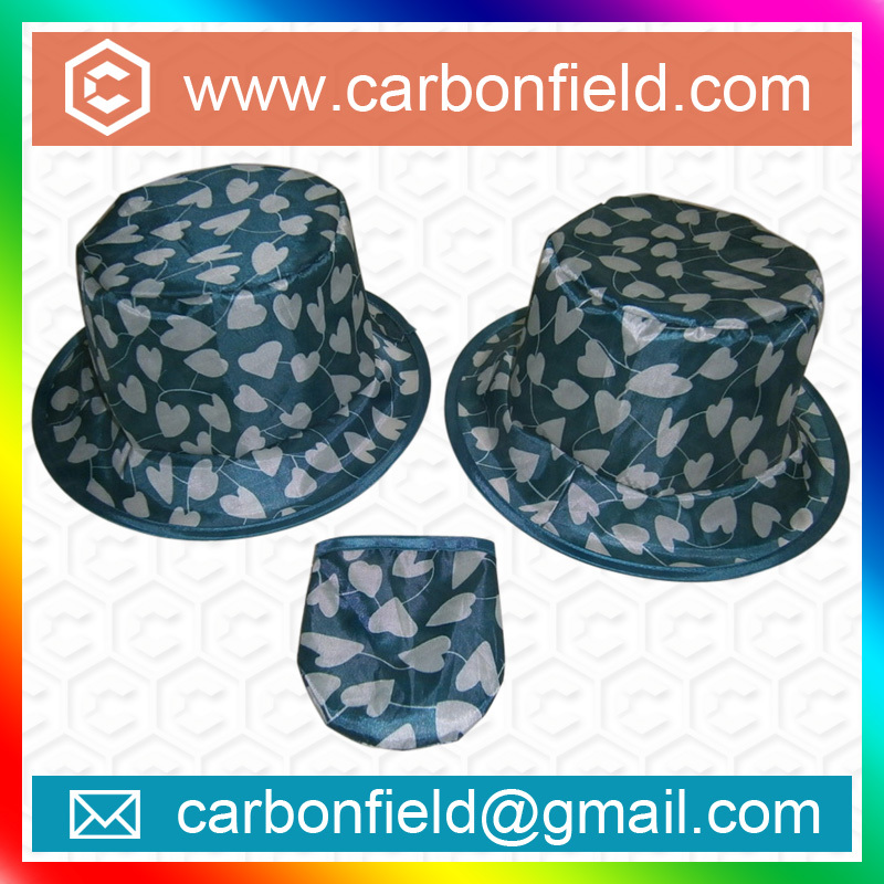 Most promotional foldable nylon fishing cap with pouch