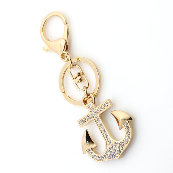 2018 promotion hot novelty zinc alloy big sailing boat anchor keychains metal keyring