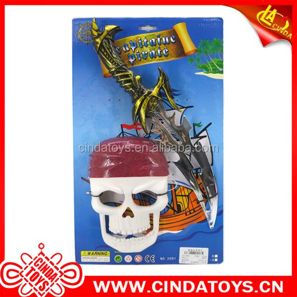 Hot pirate sword and skull mask kids plastic toy weapon For Sale