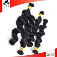 Bboss 100 loose wave factory perfect black lady 100 virgin remy hair
