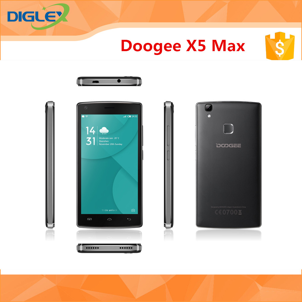 Doogee Newest Smart Phone Doogee X5 MAX 5.0 inch Quad Core MTK6580 1280*720 1G RAM 8G ROM 8.0MP 4000mAh Mobile phone