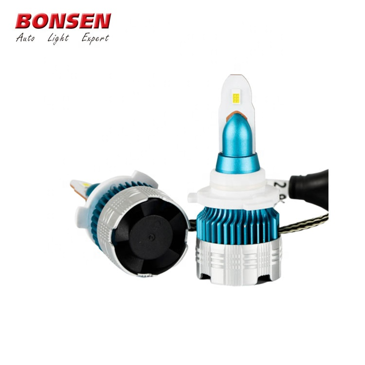 9006 Led Headlight <strong>Bulbs</strong> 7600lm Super Bright Led Headlight Conversion Kits Mini Size Led Fog Light <strong>Halogen</strong>