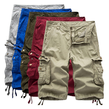 Wholesale Custom Multi Color Half Pants 100 Cotton 6 Pocket Mens Cargo Shorts