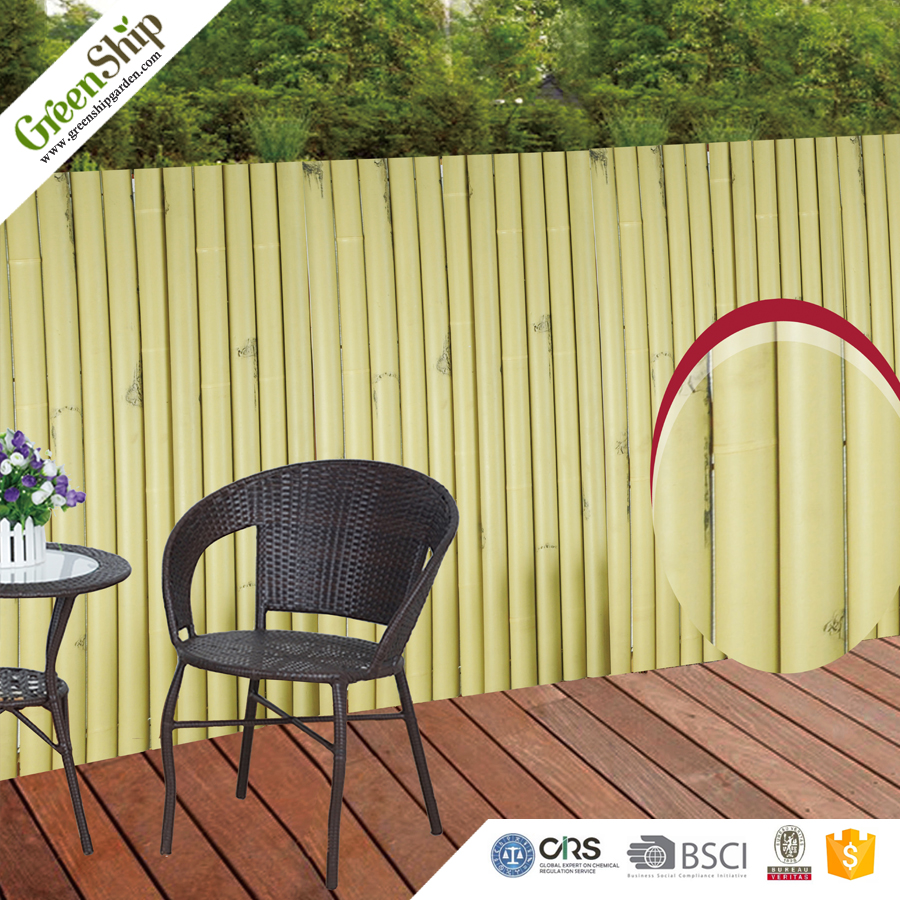 Bamboo Look Plastic fence REACH Certificate Approved