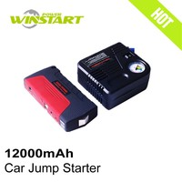mini car battery charger 12v 220v power bank 12000mAH auto vehicle emergency tools car jump starters with pump
