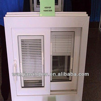 factory wholesale upvc windows with blinds inside