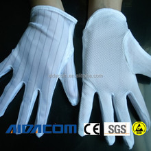 EN388,100% polyester esd palm dotted gloves