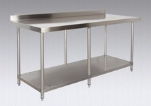 Commercial kitchen work table/bench with unde shelf