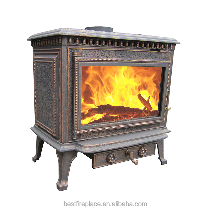 Antique High Efficiency Ce Certified Cast Iron Wood