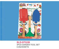 Garden tool set 3 pieces kit within blister pack for child