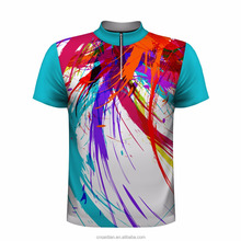 High quality sublimated bowling shirts, custom men's bowling jersey,wholesale bowling polo shirt