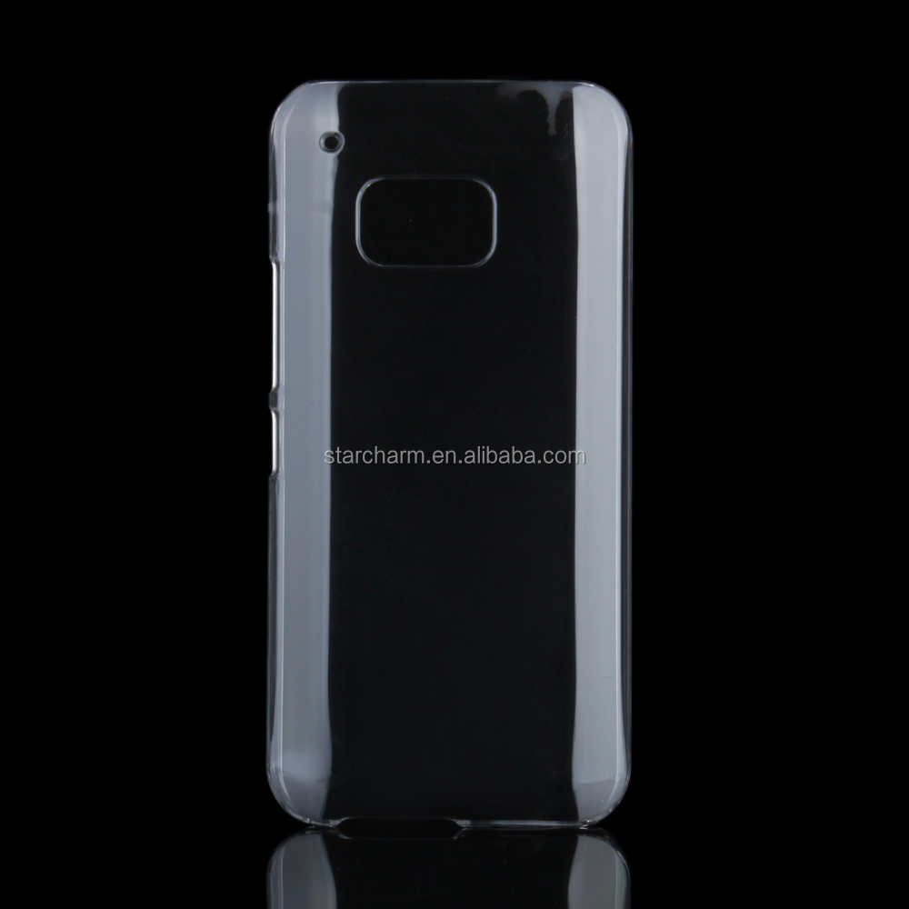 Clear back housing smart case hard cover for Htc one m9