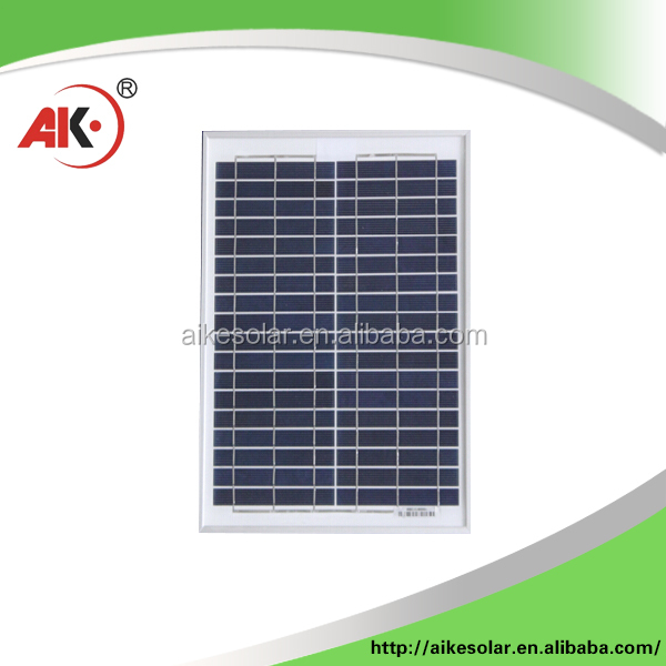 20W, with aluminum frame, measures 250x370x17mm poly solar panel