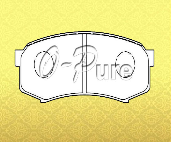 Car parts on sale for Land Cruiser o-pure less metal brake pad OE 04466-60060 None abestos good price best seller