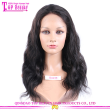 High quality 100% brazilian hair sense wigs body wave natural color material for make wigs in london