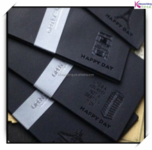 Black gold stamping Elegant luxury fancy paper business mini envelope ,embossed paper gift cards