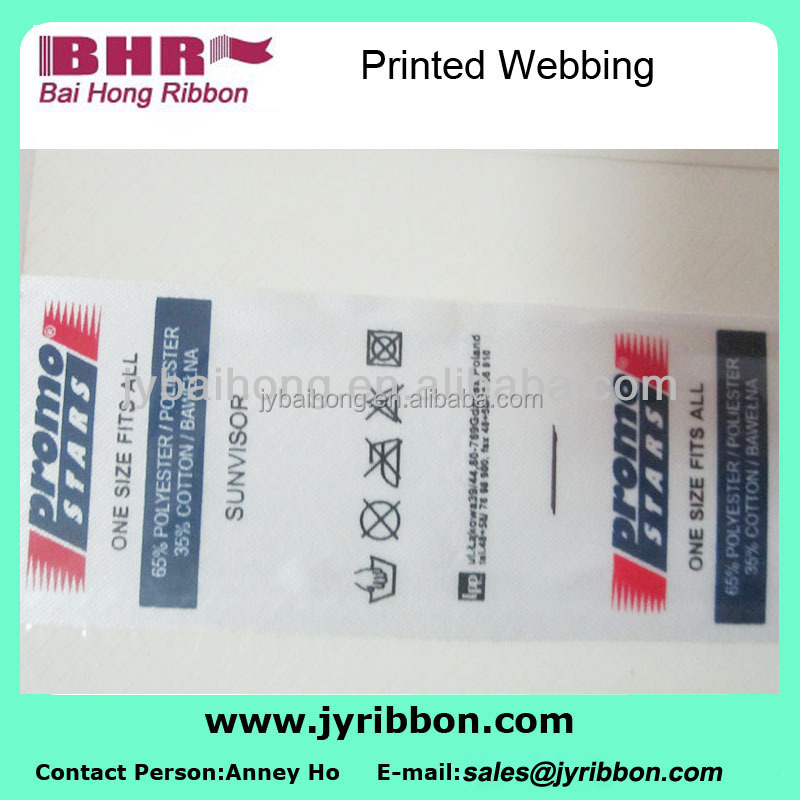 Printed webbing cotton labels cotton patterned band