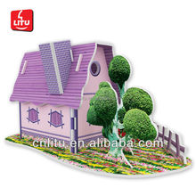 GIRLS' FAVORITE TOY DIY 3D PUZZLE LOVELY HOUSE CARTOON TOYS