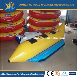 Hot sale summer inflatable fly fish inflatable banana boat water park toys for 3 persons