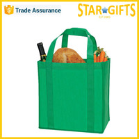 Wholesale recycled green non-woven foldable cheap shopping bags