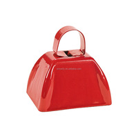 Top Rated Fashion Promotional Popular Noisemaker Red School Cowbells Custom Made Metal Cow Bell