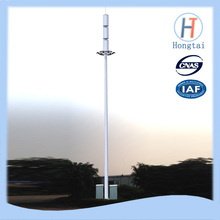 90m communication monopole pole tower with antenna