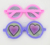 Plastic fashion round glasses with funny expression for wholesale