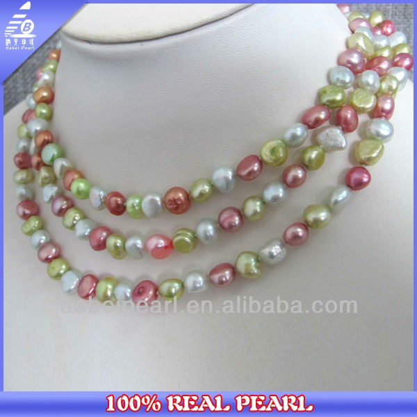 Hot Sale 120 CM Long Necklace Beads Freshwater Pearl Necklace