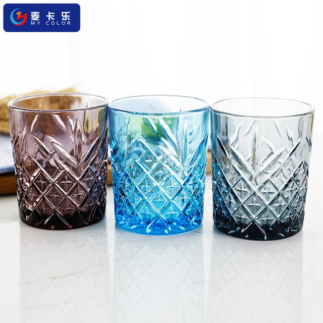Whisky colored Lead-free Crystal Glass ,Gift drinking glass cup