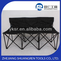 3 Seats Folding Chair, 3 people sports seating bench, 3 seat folding bench