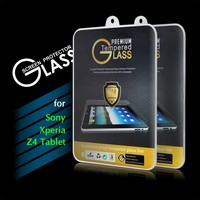 2016 New Arrival 9H 0.3mm 2.5D Premium Tempered Glass Screen Protector Film for Sony Xperia Z4 Tablet