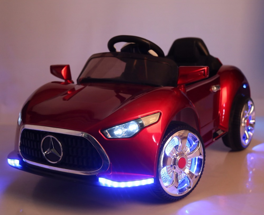 Factory wholesale cheap price LED flashing wheel children electronic toy car, power wheels toy car