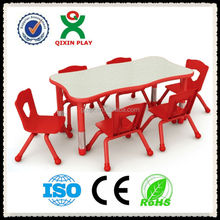 Adjustable Anti-fire board kids table chair(QX-195B)/used kids table and chairs/kids writing table and chair