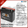 High reliability and stable quality baterai sepeda motor TYX-7DL-BS